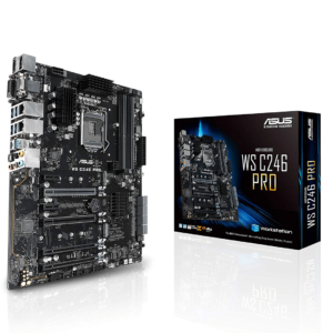 LGA1151 ECC DDR4 M.2 C246 Server Workstation ATX Motherboard for 8th Generation Intel Motherboards WS C246 PRO